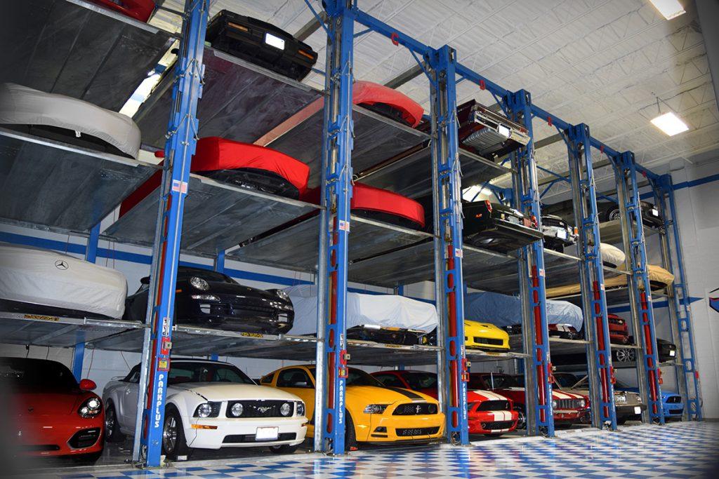 Car Bays at angle