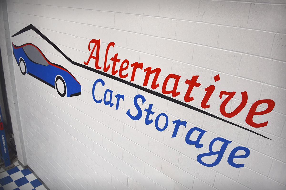 Alternative Car Storage Logo on Wall